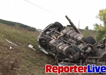 Accident intre autocar si doua tiruri pe Valea Oltului 29 octombrie 2012