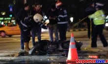 Accident motor intersectie Sincai Bucuresti